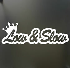 Low & Slow sticker Funny JDM acura honda lowered car truck window decal