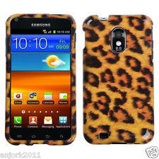 Sprint Boost Samsung Galaxy S2 4G D710 Snap On Hard Case Cover Yellow Leopard