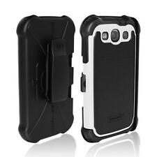 Ballistic SG Maxx Hard Case w/Holster Belt Clip fo Samsung Galaxy S3 Black/White