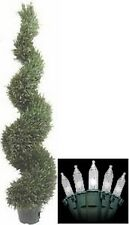 "5ft 4"" ARTIFICIAL TOPIARY OUTDOOR UV RATED ROSEMARY TREE SPIRAL CHRISTMAS LIGHTS"