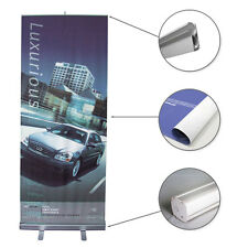 "Retractable 33"" Roll Up Banner Stand Trade Show Pop Up Banner Stand + FREE Print"