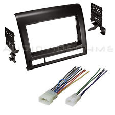 Single/Double DIN Car Stereo Radio Dash Kit+Harness for Toyota Tacoma 2012-2015