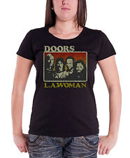 The Doors T Shirt LA Woman Distressed Logo Official Womens Skinny Fit 8