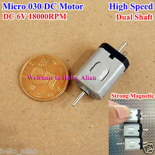 DC 6V 18000RPM High Speed Dual Shaft Strong Magentic Mini 030 Motor for Toy DIY