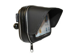 "5"" SUNSHADE GPS SATNAV CASE MOTORCYCLE MOTORBIKE 1"" RAM BALL WATERPROOF 5 INCH"
