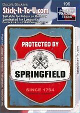 Protected by Springfield – Decal Sticker Gun Security