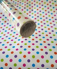 10ft Polka Dot contact wall paper Shelf liner peel & stick 10ft x 20""