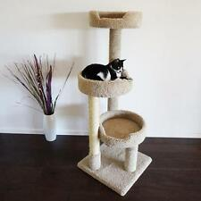 "New Cat Condos 50"" Inch Kitty Pad Cat Tree - Beige or Brown - Free Shipping"