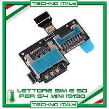 Lettore SCHEDA SIM + MICRO SD Card per SAMSUNG GALAXY S4 Mini i9190 FLAT FLEX