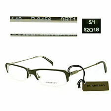 Burberry B 8456 0RT1 Half-Rimless Eyeglasses Rx Made in Italy - New Authentic
