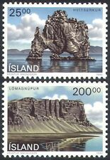 Iceland 1990 Landscapes/Cliffs/Sea/Tourism/Nature/Rocks/Geology 2v set (n27458)