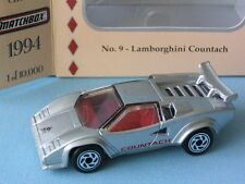 Matchbox Collectors Choice Lamborghini Countach Silver Italian Sports Toy Model