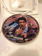 """The Bradford Exchange Elvis Collectable Plate  """" Rockin in My Blue Suede Shoes"""""""