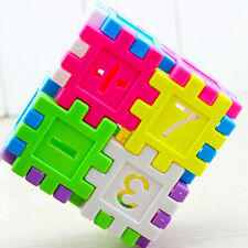 DIY Blocks Square Educational Toy Assembly Children Building Block Toys Math MD