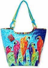Sun N' Sand Parrot Parade Beach Bag Tote One Size Multi