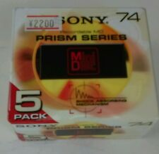 Sony Prism Series Recordable MD Mini Disk 5MDW-74H - Sealed 5 Pack