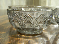 4 Depression Era Vintage Indiana Glass Gothic Windows Arches Bowls #166 c1925