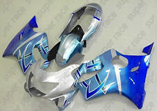 Good Blue Silver Fairing Bodywork Injection Kits For Honda CBR600 F4 1999-2000