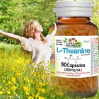 90 Capsule, L-Theanine - 100% Pure - NO RICE POWDER FILLER - 200 mg - Free Ship