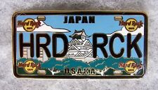 HARD ROCK CAFE OSAKA 2015 LICENSE PLATE SERIES PIN # 82536