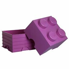 LEGO LARGE STORAGE BOX SEALED FURNITURE - 4 DARK PINK BRICK BLOCK NEW