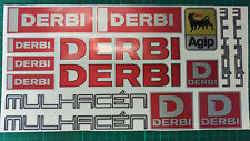 Derbi Mulhacen stickers SM supermoto 50 125  Red/Black/Silver cafe racer