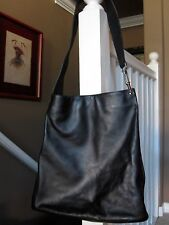 Gorgeous Gucci Calf Black Leather Hobo Shoulder Bag w/ Dust Bag NR !