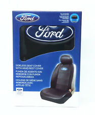 Ford Auto Seat Cover Elite Black Synthetic Leather Sideless  Airbag ready