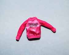 """SASSY! Hot Pink """"Trend Setter"""" Genuine BARBIE Long Sleeve Top Shirt - Clothes"""