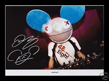 DEADMAU5 AUTOGRAPHED SIGNED AND FRAMED PP PHOTO POSTER