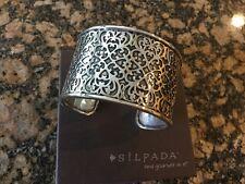 Silpada Sterling Silver Bold Cuff Bracelet B1697 display piece