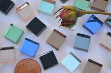 40 St. Spiegelmosaik Buntmix 8 Farben 1x1cm Spiegelsteine Stärke 4-5mm, ca.40g