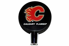 Calgary Flames Basic Logo NHL Hockey Puck Beer Tap Handle
