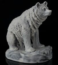 "Bear Marble Figurine Russian Art Stone Sculpture Wild Animal Statue 3"" Tall"