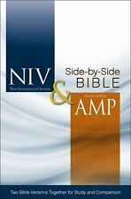 NIV, Amplified, Parallel Bible, Hardcover: Two Bible Versions Together for Study