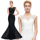 STOCK Long Formal Prom Party Ball Gown Bridesmaid Evening Dress Wedding UK 6-20
