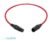 Mogami 2534 Quad Cable | Neutrik Gold XLR-F XLR-M | Red 3.5 Feet | 3.5 Ft. 3.5'
