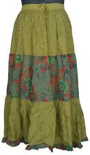 Patchwork Rayon Belly Dance Skirt Boho Gypsy India Womens clothing IDA117