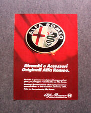 [GCG] L494 - Advertising Pubblicità -1984- ALFA ROMEO RICAMBI E ACCESSORI