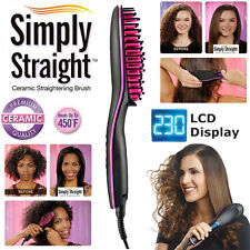 HOT! Simply Straight Hair LCD Straightener Comb Brush As Seen on TV AU Plug New