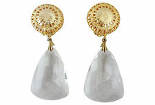 1980s Ellen Designs Clear Drop Bridal Runway Couture Earrings