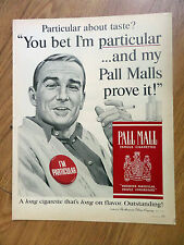 1964 Pall Mall Cigarette Ad A  Singer Perry Como