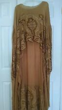 Antique Victorian Edwardian Embroidery Crochet Lace Evening Dress Wedding Gown 3