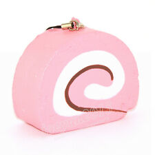Yummy Kawaii Cake Soft Swiss Roll Squishy Phone Charms Scrent Slow Rising Strap