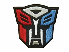 Superhero Transformers AUTOBOT Embroidered Iron On / Sew On Patch