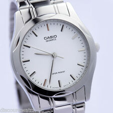 Casio MTP1275D-7A Mens Stainless Steel Analog Dress Watch White Dial NEW
