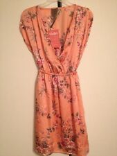 LuLu*s Moon Collection Size S 100% Polyester Mini Dress Peach Floral NWT