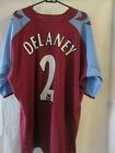 Mark Delaney Match Worn Aston Villa 2004-2005 Home Football Shirt /10790