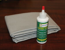 Boat Cover Tarp Repair Poly/Cotton Material Kit - Easy to use kit  Silver/Grey