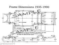 1956 Studebaker NOS Frame Dimensions  Front Wheel Alignment Specifications